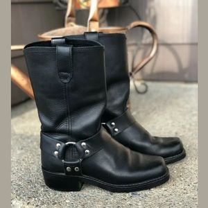 DINGO Leather Harness Gaucho Motorcycle Boots 6.5